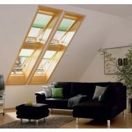 4 ramen het dak geplaatst