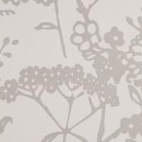 Wit met zilveren bloemen